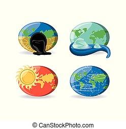 klimat, projektować, zmiana