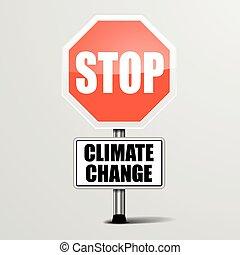 klimat, zatrzymywać, zmiana