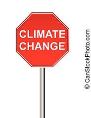 klimat zmiana, znak