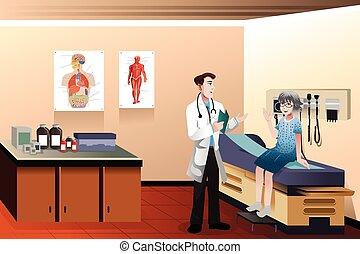 klinika, doktor, pacjent