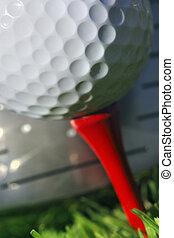 klub, golfowa piłka, trawa