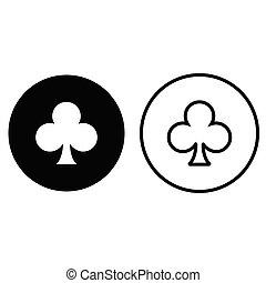kluby, garnitur, ikona