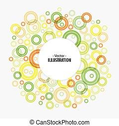 koła, abstrakcyjny, jasny, wektor, tło, technologia