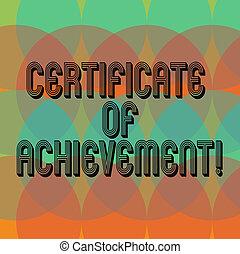 koła, dobrze, tworzenie, świadectwo, nakrycie, fotografia, pokaz, certify, exceptionally, widmo, afisz, znak, presentation., zrobiony, demonstrowanie, czysty, konceptualny, kopia, tekst, achievement., przestrzeń