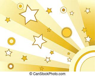 koła, gwiazdy, tło