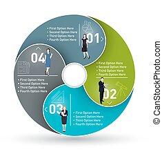 koło, infographic, handlowy