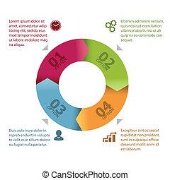 koło, infographic, szablon