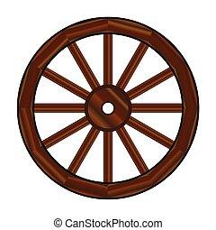 koło, nakrywana powózka