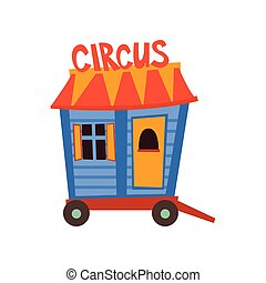 koło, wóz, cyrk, ilustracja, maruder, wektor, rysunek