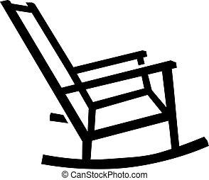 kołysanie, sylwetka, krzesło