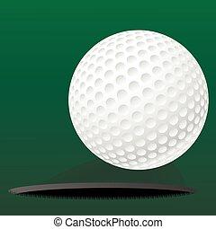 kołyszący, otwór, piłka, golf