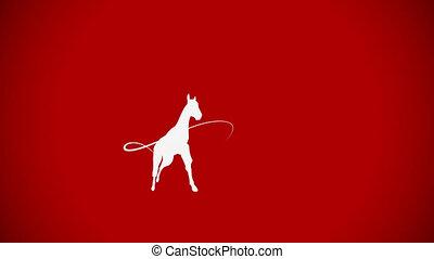 koń galopują, whiteboard, przestrzeń, ożywienie, kopia, zasłona