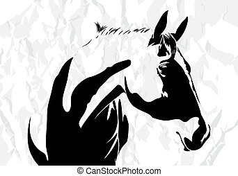 koń, wektor