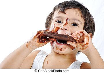 koźlę, czekolada
