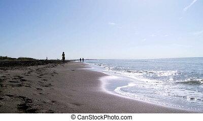 kobieta bieg, plaża