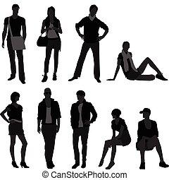 kobieta, fason, samica, wzór, samiec, człowiek