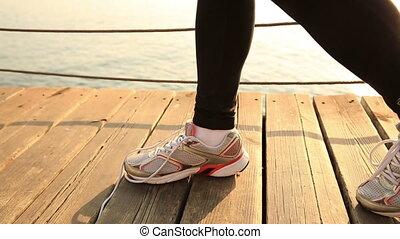 kobieta, lekkoatletyka, młody, wyścigi
