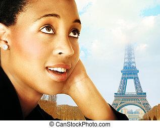 kobieta, paryż