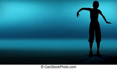 kobieta, tancerz, sylwetka