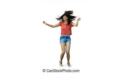 kobieta taniec, powolny ruch
