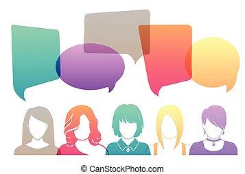kobiety, avatar, drużyna