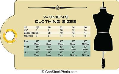 kobiety, odzież, rozmiar