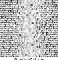 kodeks, macica, stream., abstrakcyjny, hex, ilustracja, tło., wektor, cyfrowy, dane, element.
