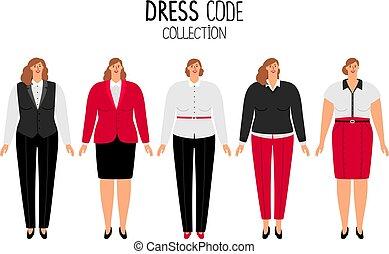 kodeks, strój, kobiety
