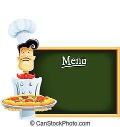 kok, menu, pizza