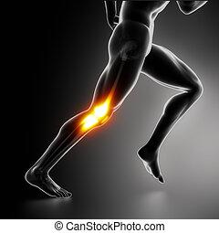 kolano, pojęcie, ból, lekkoatletyka