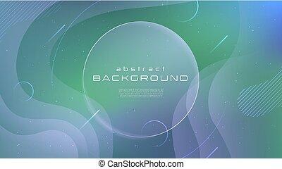 kolor, abstrakcyjny, chorągwie, projektować, błękitny, modeluje, nachylenie, concept., twórczy, tło., lotnicy, geometryczny, afisze, płyn, cover., 10, wallpaper., płyn, plakaty, eps, ruch, wektor, zielony, miękki, futurystyczny