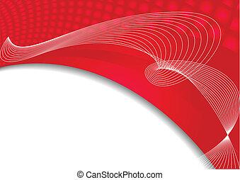 kolor, abstrakcyjny, wektor, czerwone tło