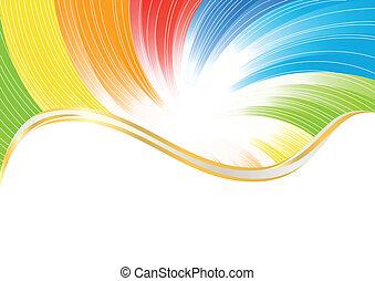 kolor, abstrakcyjny, wektor, jasny, tło