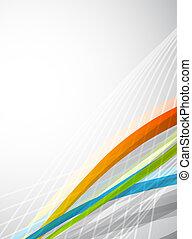 kolor, abstrakcyjny, wektor, lines., tło