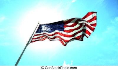 kolor, bandera, normalny