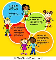 kolor, dzieciaki, circles-2, rysunek