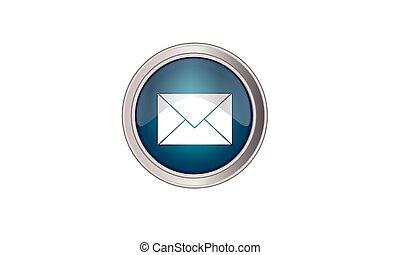 kolor, guzik, ikona, email, okrągły