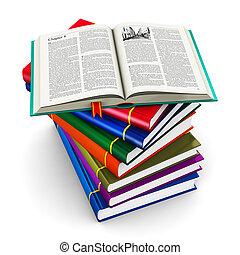 kolor, hardcover, książki, stóg