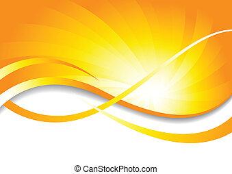 kolor, jasny, wektor, tło, żółty