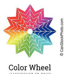 kolor, koło, wektor, ilustracja