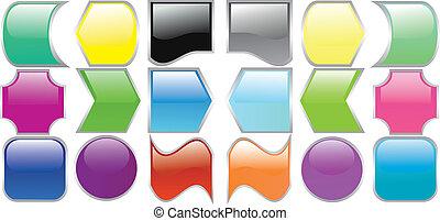 kolor, komputer, różny, ilustracja, ikony