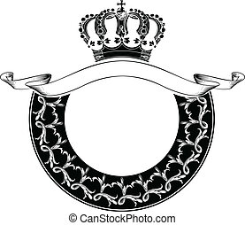 kolor, królewska korona, jeden, koło, skład
