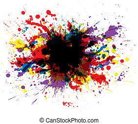 kolor, malować, plamy