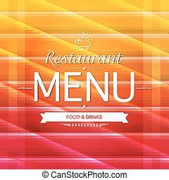 kolor, menu, projektować, restauracja