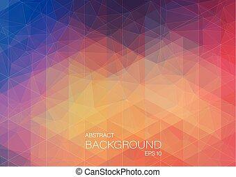 kolor, modeluje, abstrakcyjny, trójkąt, tło