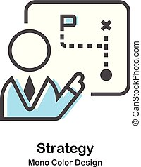 kolor, mono, ilustracja, strategia