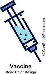 kolor, mono, szczepionka, ikona
