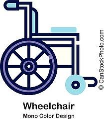 kolor, mono, wheelchair, ikona