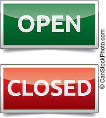 kolor, otwarty, -, deska, zamknięty