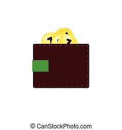 kolor, pieniądze, wektor, ilustracja